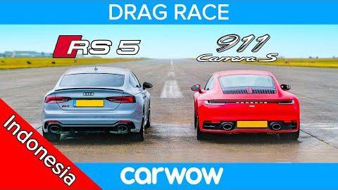 Audi RS5 vs Porsche 911: DRAG RACE *amat sangat tipis*
